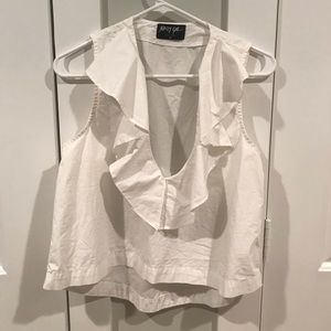 Nasty Gal White Sleeveless Blouse